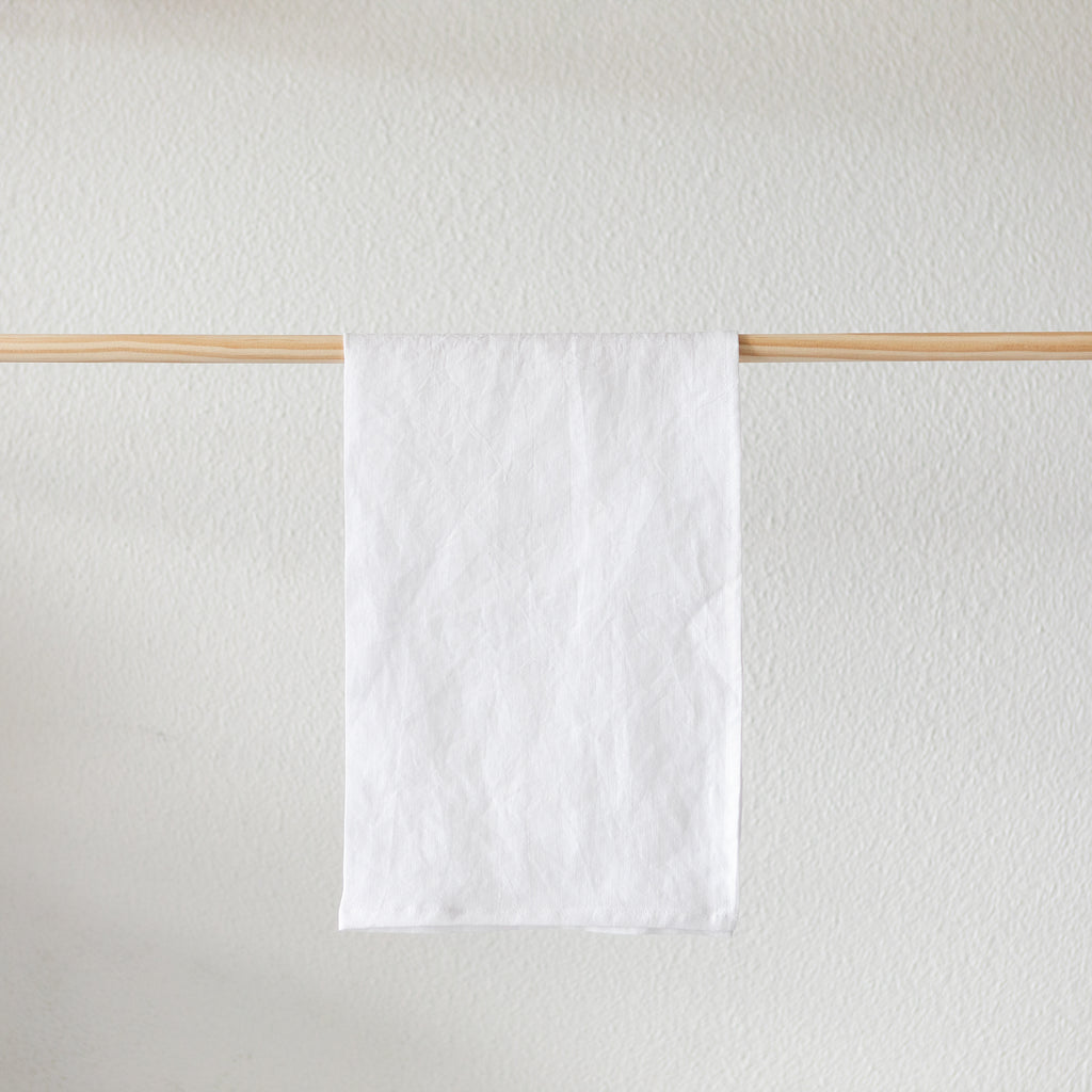 Linen Tea Towel | White | Made in NZ