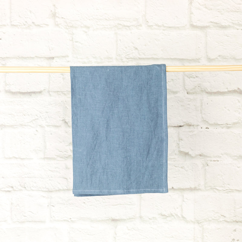 Linen Tea Towel | Blue Stone