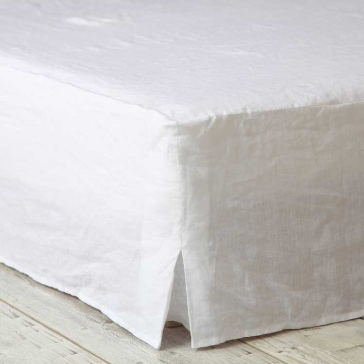Linen Valance | White | Super King