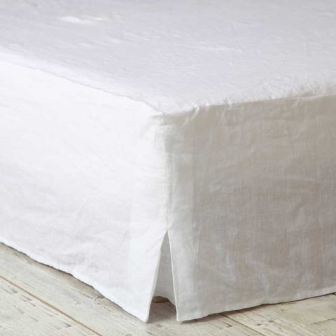 Laundered Linen Duvet Cover Set | White