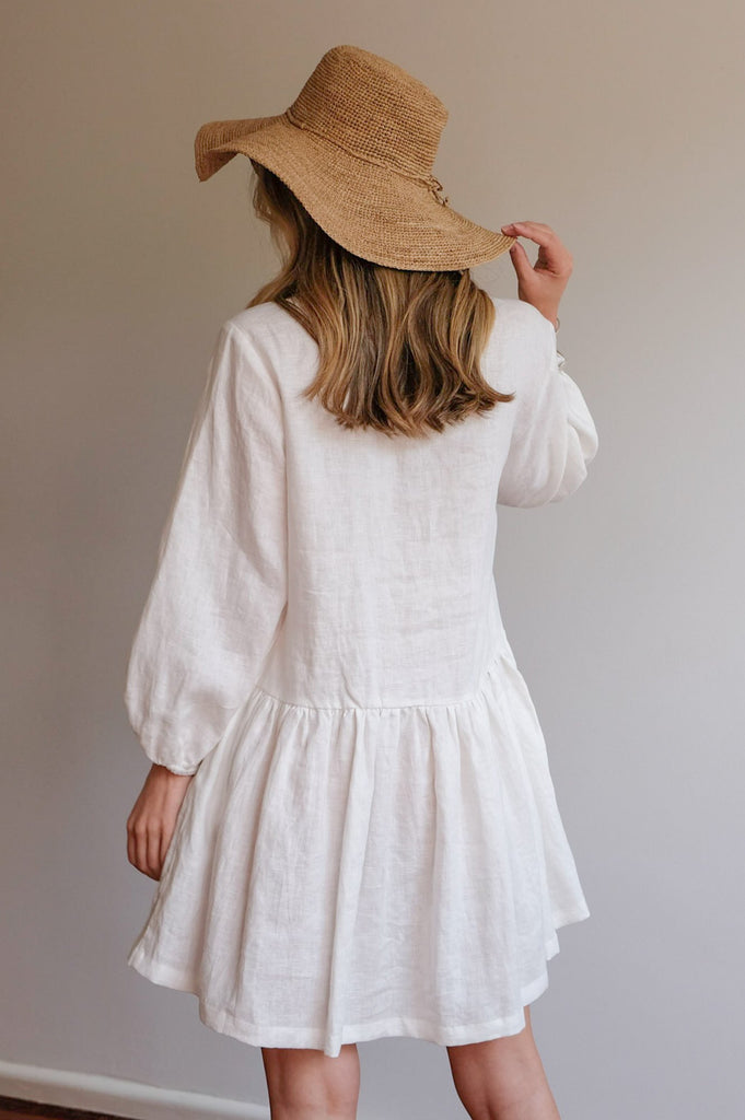 Linen Babydoll Dress | Cream