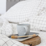 Grid Linen Pillowcases | Oeko-Tex® certified