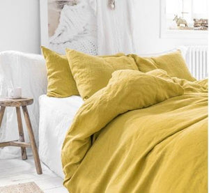 Mustard Linen Pillowcases | Oeko-Tex® certified | Pre Order