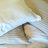 Linen Pillowcases | Natural Stripes | Made in Europe