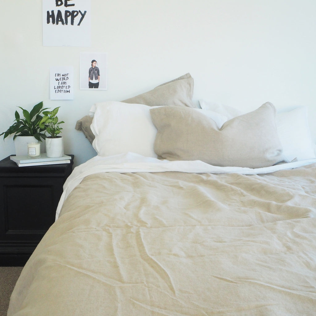 Linen Euro Pillowcase | Natural
