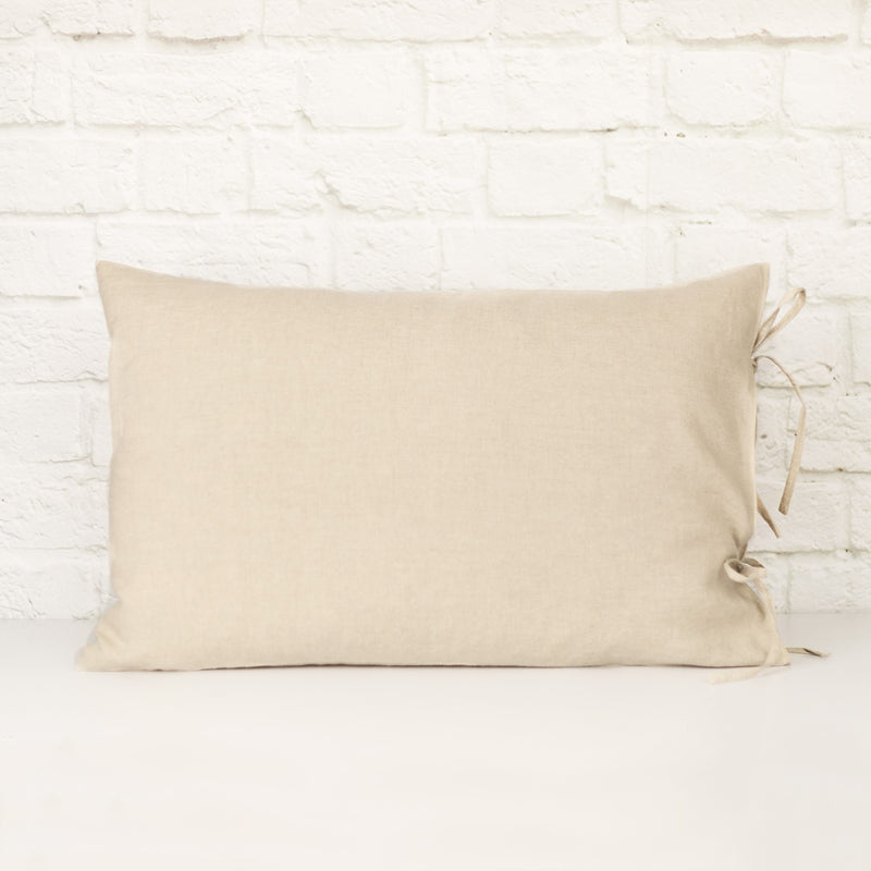 Linen Pillowcases |  Natural with Ties