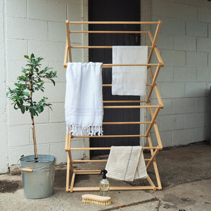 Wooden Clothes Drying Rack