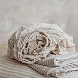 Linen Stripe Fitted Sheet | Pre Order