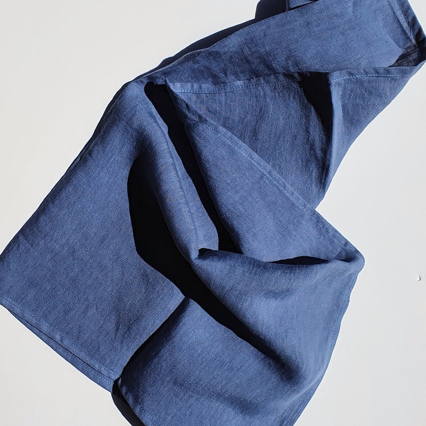 Linen Tea Towel | Denim Blue | Made in NZ