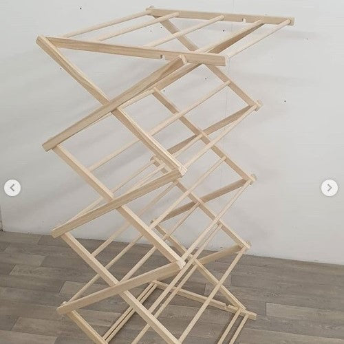 The Tower with built in Top rack | Wooden Clothes Drying Rack
