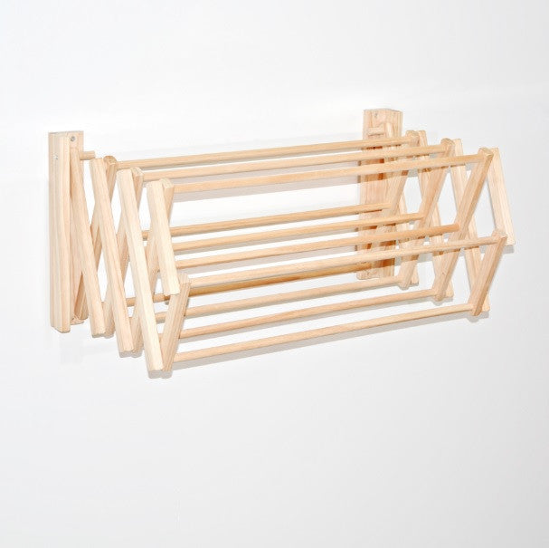 Wooden Clothes Drying Rack - Wall Hung