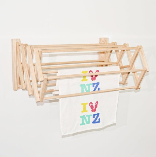 Wooden Clothes Drying Rack Wall Hung The Foxes Den
