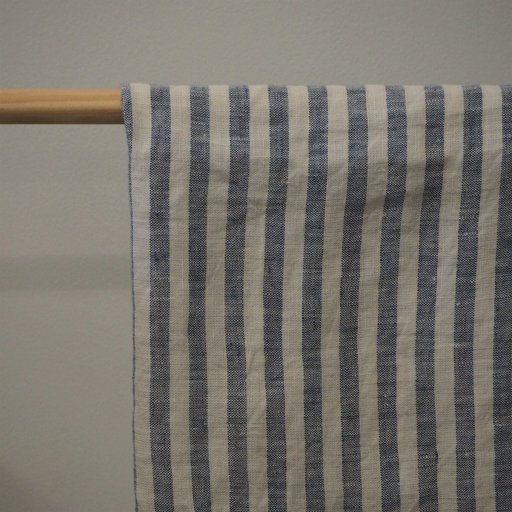Linen Tea Towel | Blue Stripe