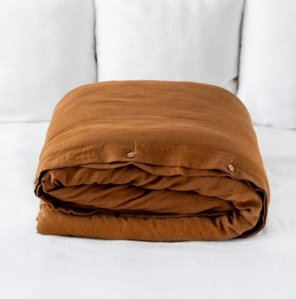 Cinnamon Linen Duvet cover Set | Made in Europe