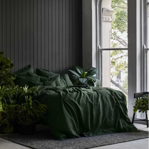 Linen Pillowcases | Forest Green