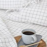 Grid Linen Sheet Set | Oeko-Tex® certified