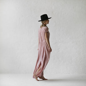 Linen Maxi Dress | Dusky Pink - LAST ONE!