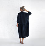 Oversized Linen Dress | Navy