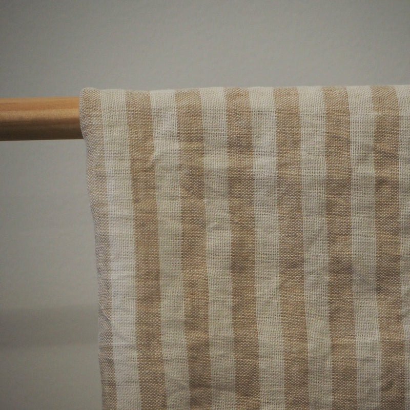 Linen Tea Towel | Natural Stripe