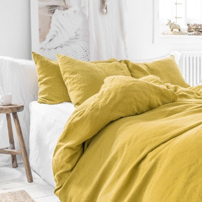 Chartreuse Linen Pillowcases | Oeko-Tex® certified