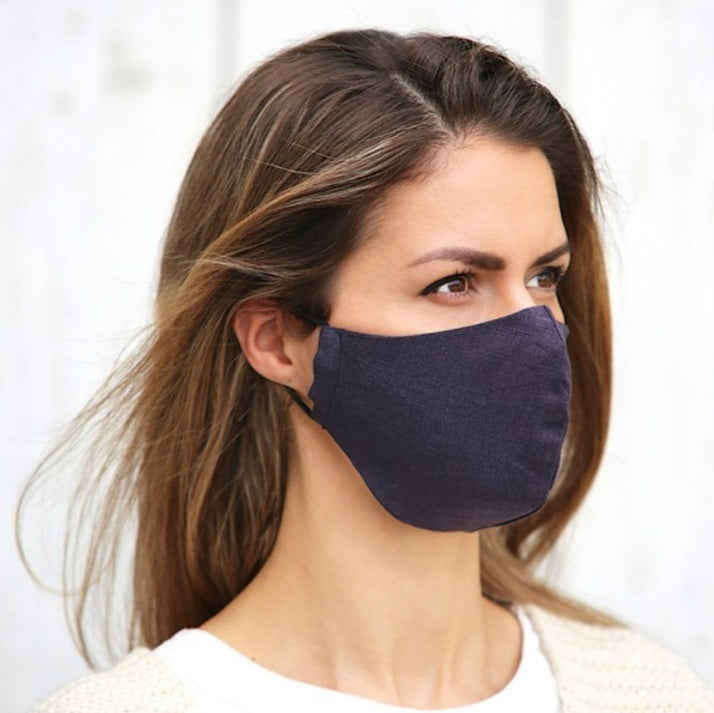 Linen Face Mask | Navy