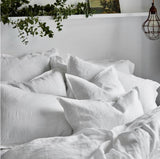 Lodge Linen Pillowcase | White | Made in Europe