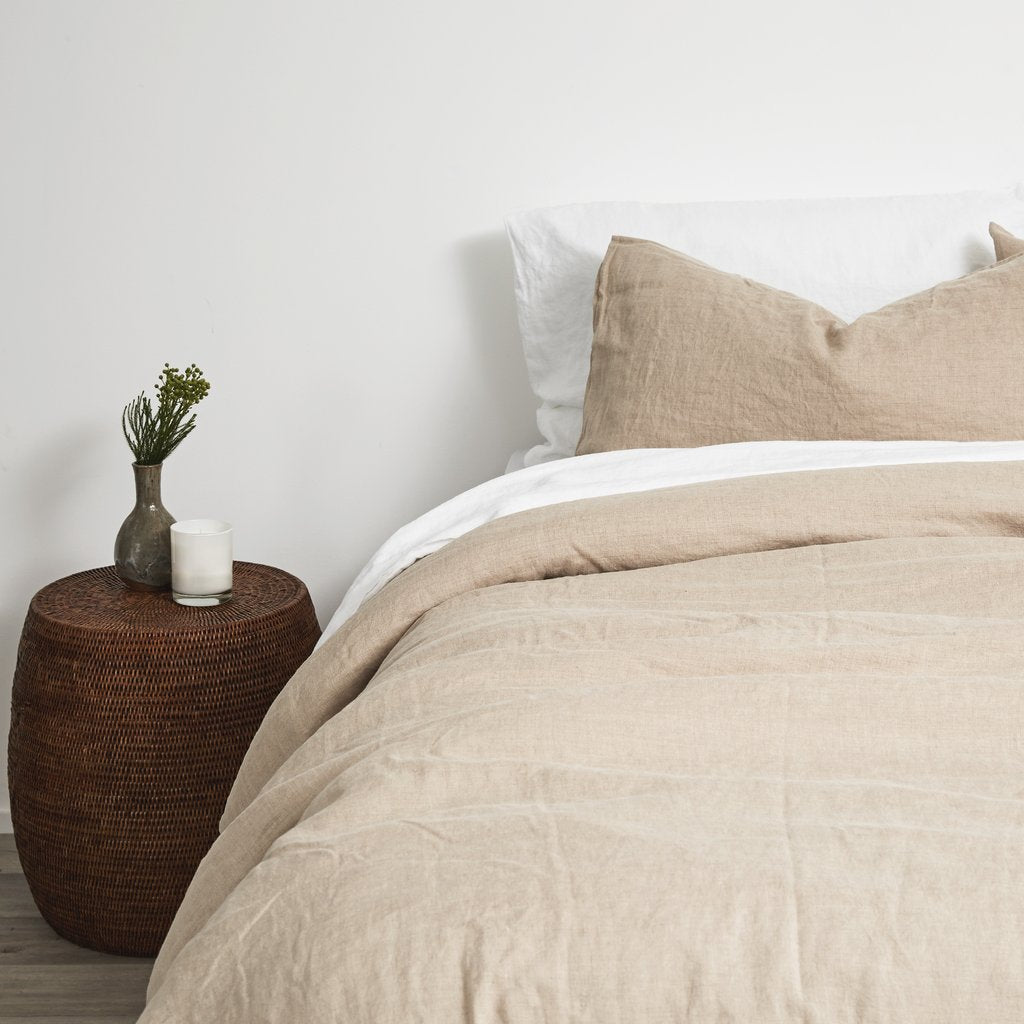 Stonewashed Linen Fitted Sheet | Natural