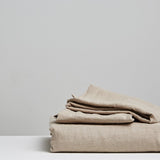 Stonewashed Linen Flat Sheet | Natural