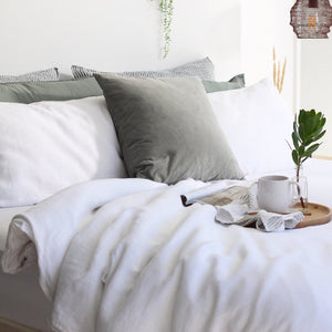 Linen Duvet Cover Set | Pure White  | Made in Europe