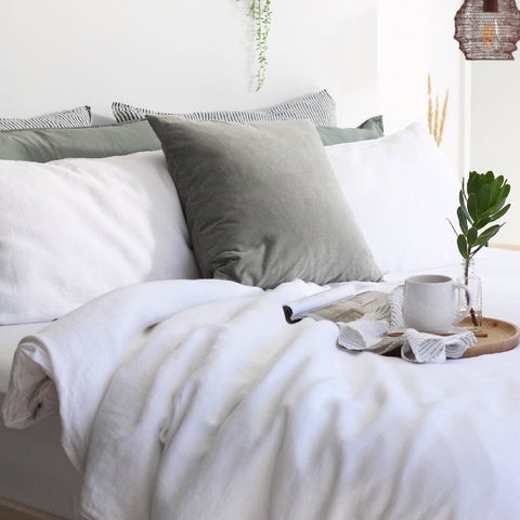 Linen Duvet Cover Set | Dove Grey | Made in Europe