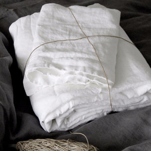 Pure White Linen Sheet set | Made In Europe