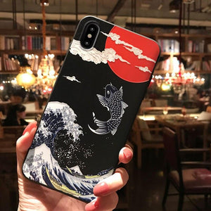 Japanese Mount Fuji  and Koi  Cases for iPhones - Paper Bear UK