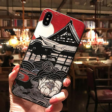 Load image into Gallery viewer, Japanese Mount Fuji  and Koi  Cases for iPhones - Paper Bear UK