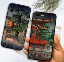 Load image into Gallery viewer, Ukiyo-e Japanese style Art iPhone Case