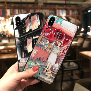 Japanese City Scenes Phone Cases for iPhone