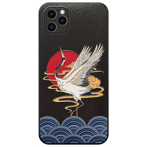 Animal Embossed Japanese Style Soft Cover For iPhones