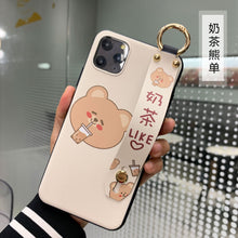 Load image into Gallery viewer, Cute Milk Tea Bear iPhone Case With Strap