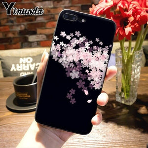 Japanese Cherry Blossoms Pattern Cases for iPhone