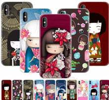Load image into Gallery viewer, Kawaii Japanese Kokeshi Doll Hard Case For iPhone
