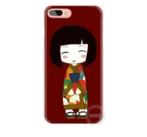 Kawaii Japanese Kokeshi Doll Hard Case For iPhone