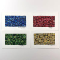BRGY Squares with Squares; Shadow Boxes Set - Original - MJS.ART