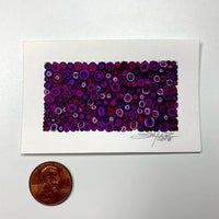 Circles with Circles; Deep Purple - Original - MJS.ART