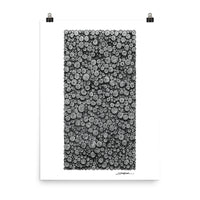 Circles with Circles; Monochrome – Poster Print - MJS.ART