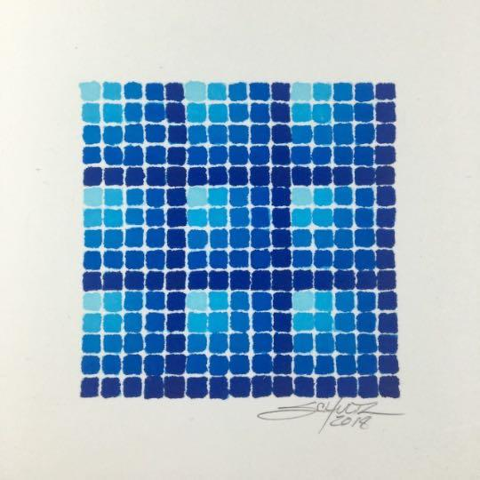 Crystal Blue Matrix Spectradient - Original - MJS.ART