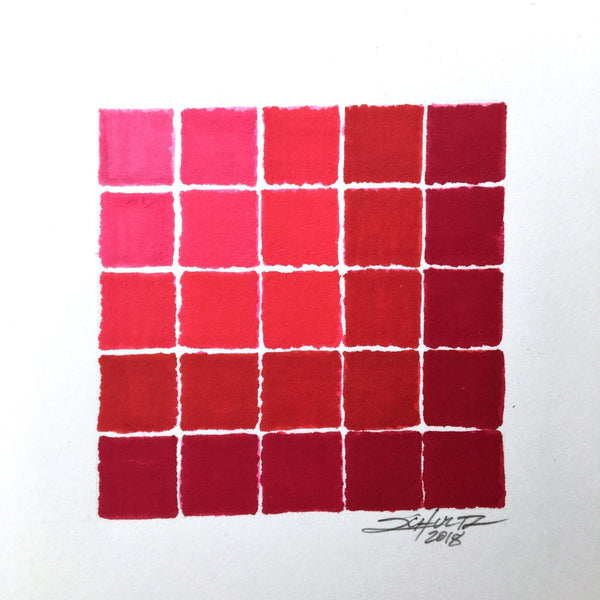Extra Chunky Red Spectradient - Original Art - MJS.ART