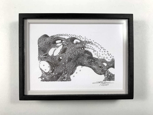 Framed Aquabestius - Original Art - MJS.ART