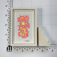 Framed Fluorescent Tiny Grid 1 - Original - MJS.ART