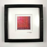 Framed Red Spectradient Pair A & B - Original - MJS.ART