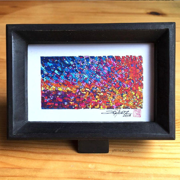 Framed Sunburst Lattice #1 - Original - MJS.ART