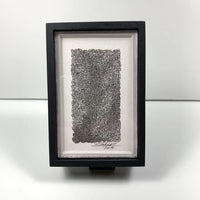Framed Tiny Lattice Monochrome #1 - Original - MJS.ART